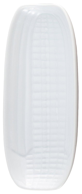 HIC Harold Import Co. NT303 HIC Corn Dish, Fine White Porcelain, 9.5 x 4.25-Inches