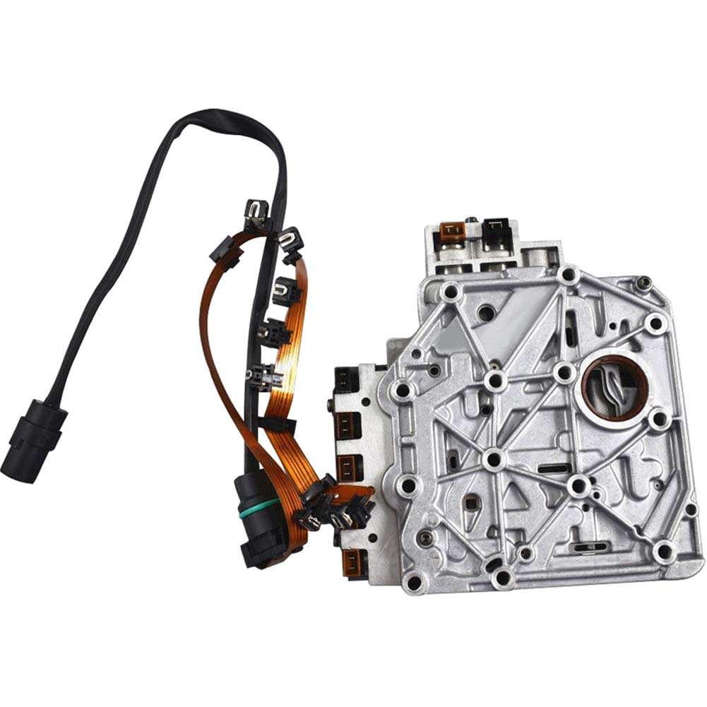FLBETYY Car 4 Speed Automatic Transmission Solenoid Gearbox Valve Body With Wiring Harness For VW Jetta Golf Beetle Tested 01M325283A
