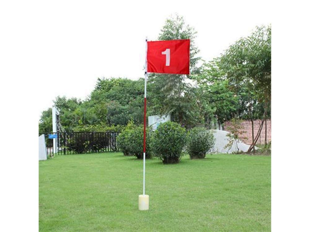 77tech 3 Section Golf Hole Pole Cup Flag Stick for Backyard Practice