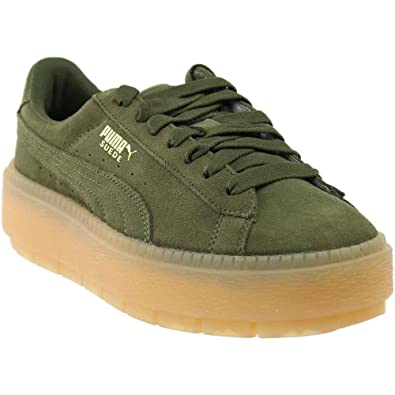 1cac79f44ee7 PUMA Women s Suede Platform Trace Olive Night 5.5 B US B ...