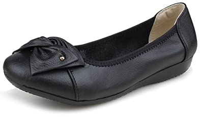 2bc18610473 Kunsto Women s Leather Loafers Flats Slip On