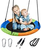 "Ancaixin 40"" Saucer Tree Swing Flying 700 lb Weight Capacity Adjustable Multi-Strand Ropes Safe Durable Easy Install…"