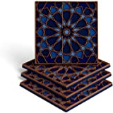 MOSAICANA Coasters for Drinks - Set of 4 Coasters, Silicone, Protect Against Water Marks or Damage - Fit All Cups, 3.5…