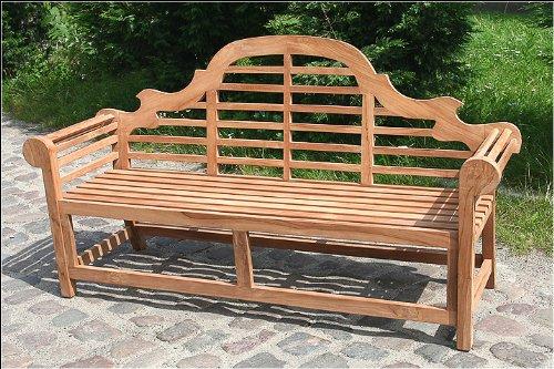 Amazon.de: TEAK Gartenbank aus Holz, XXL 180cm - Serie MARLBORO