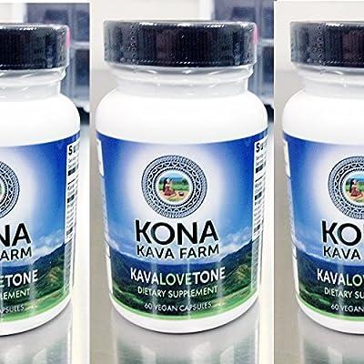 KONA KAVA Kava Root Extract KavaLOVEtone Premium Capsules (120)