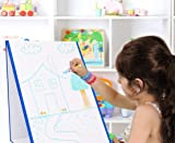 Kid's Dry Erase Board Stand-Up Easel Whiteboard for Writing, Drawing, Fun Learning - Educational Play for Home, Preschool
