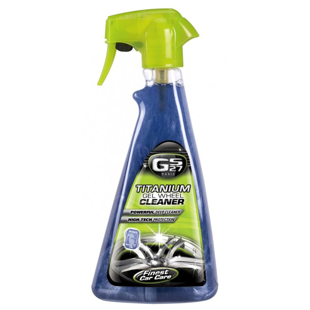 GS27 Titanium Gel Wheel Cleaner 16 oz | Professional deep-cleaning car rim polish and protector | Manufactured in France