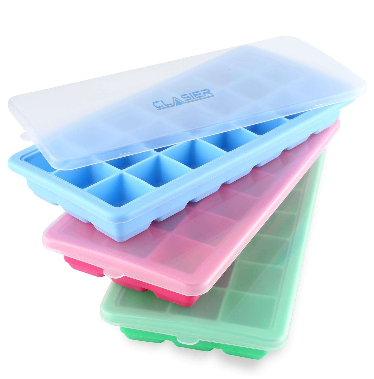 Amazoncom Ice Cube Trays With Lids Silicone Bpa Free Ice Molds