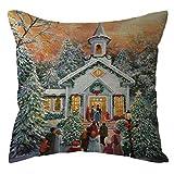 Chenway Christmas Throw Pillow Case,Zipper Square Pillowslip Cushion Festive Decoration CaseCover for Sofa Living Room Home Decor (K)