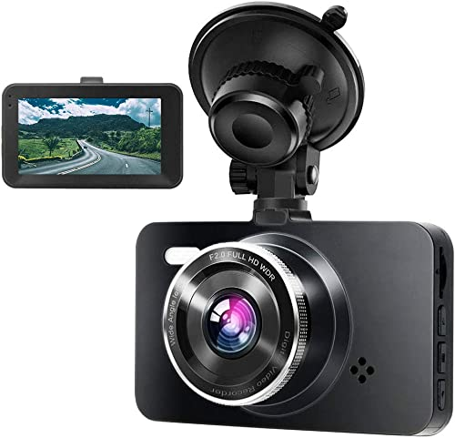 Dash Cam, MOUNTDOG 1080P Full HD Dashboard Camera, Dash Camera for Cars, 3 LCD Screen Driving Recorder with Night Vision, 170 Wide Angle, Motion Detection, G-Sensor, Loop Recording, Parking Monitor
