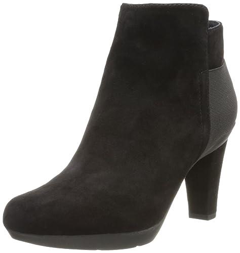 a55645728fa Geox D Inspiration ST. A, Botines tacón para Mujer, Negro-Schwarz (Black  C9999), 35 EU: Amazon.es: Zapatos y complementos