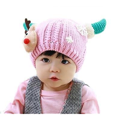 MILEEO Bonnet Bebe, Chapeaux de bonnet d'ours de chapeau de coton d'enfants de filles d'enfant d'impression