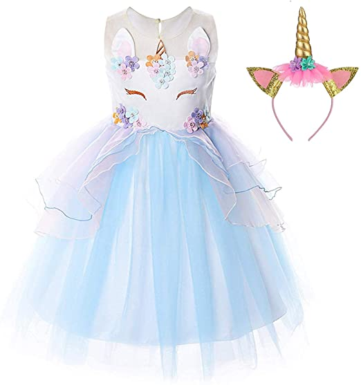 Ttyaovo Vestido De Unicornio Para Niña Vestido De