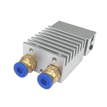 ReFaXi 2 en 1 Salida extrusor de Doble Cabezal Hot End V1 0.4mm ...