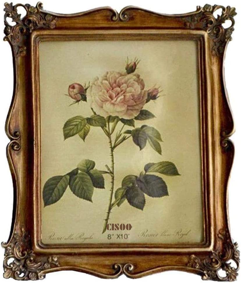 CISOO Vintage Picture Frame 8x10 Antique Photo Frame Table Top Display Wall Hanging Home Decor (Bronze)