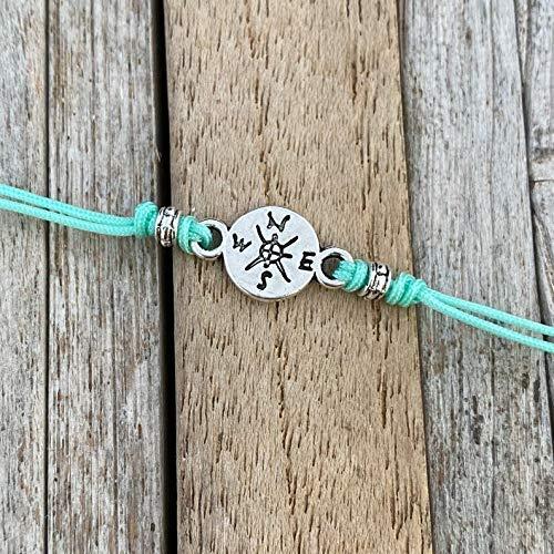 Turquoise /& Gold gift friendship bracelet Wanderlust gift for her. Dreamer jewellery bracelet card