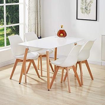 GOLDFAN Ensemble de Salle à Manger avec Table et chaises Eiffel 4 ...