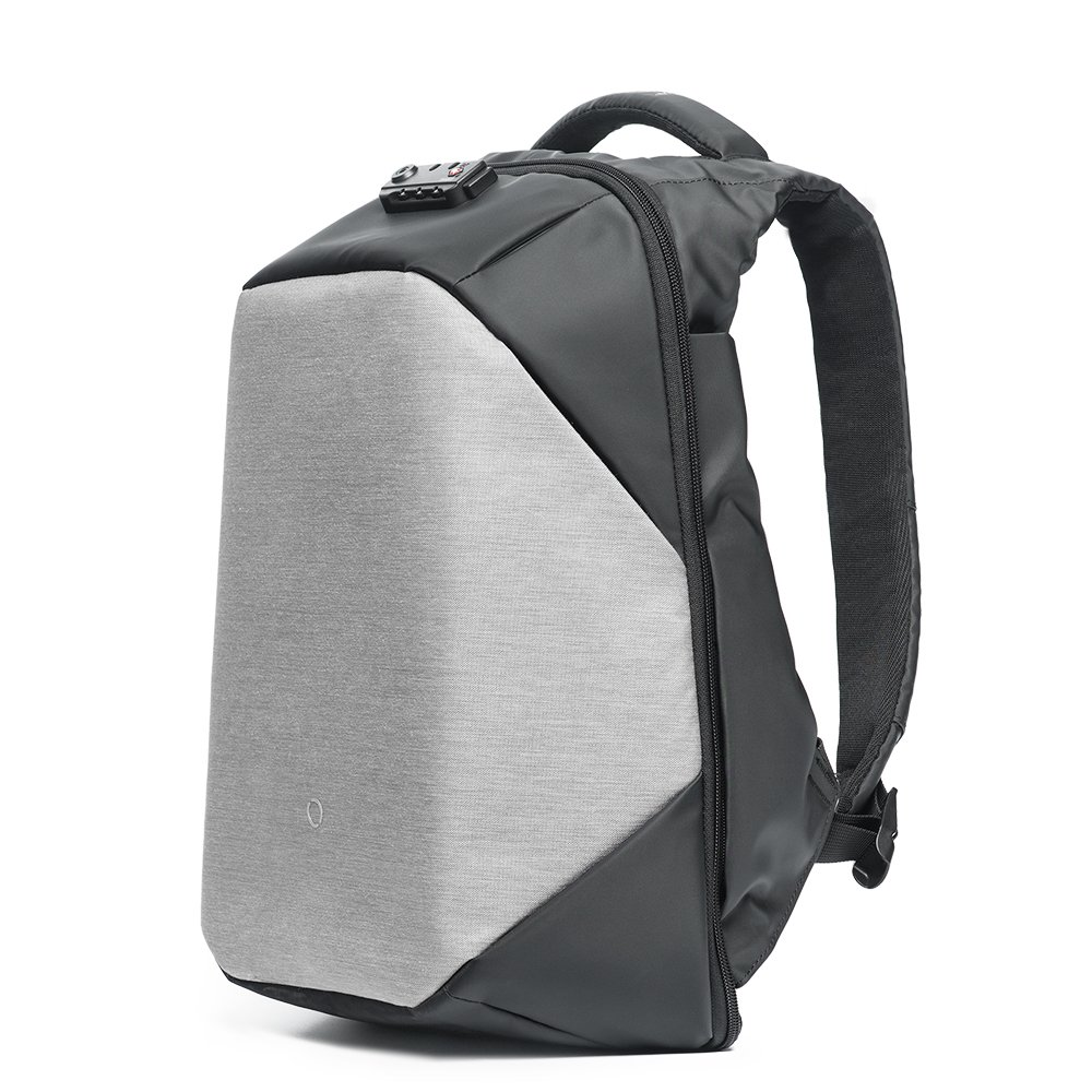 KORIN ClickPack bro - Anti Theft Travel Backpack Laptop Backpack 15.6 inch with USB Charging Port Large Capacity Waterproof TSA Business Travel Backpack Bag Friendly Smart Grey