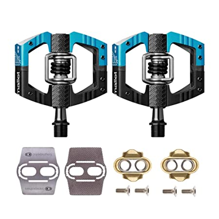 CRANKBROTHERs Crank Brothers Mallet Enduro Bike Pedals Pair Choose Your Color with Premium Cleats and Shoe Shields Set for Traction