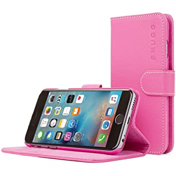 half off 734aa 1ef20 iPhone 6S Case, Snugg - Hot Pink Leather iPhone 6s Flip Case [Lifetime  Guarantee] Premium Wallet Phone Cover with Card Slots for Apple iPhone 6S
