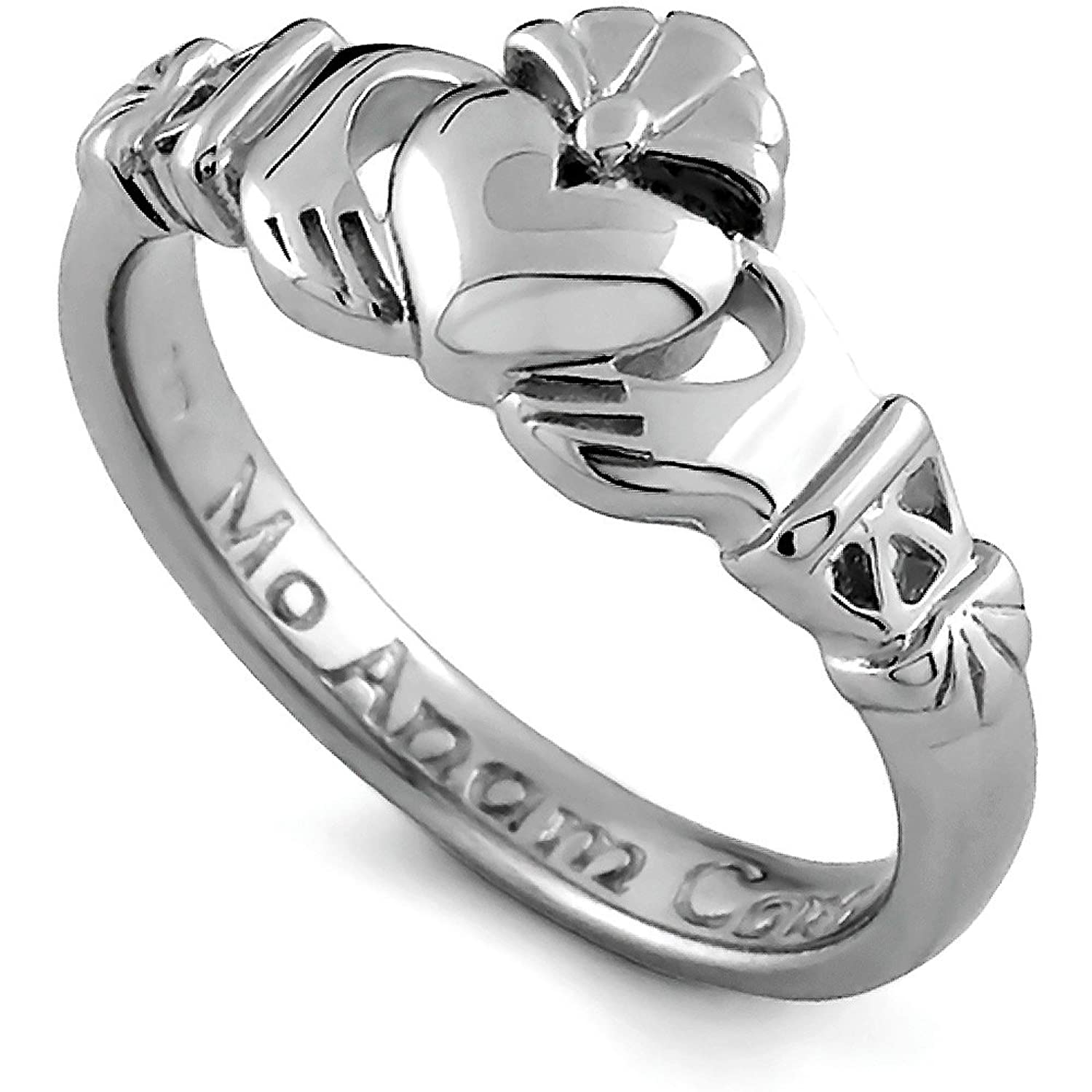 Amazon Sterling Silver Claddagh Promise Ring PROMISE1 Made