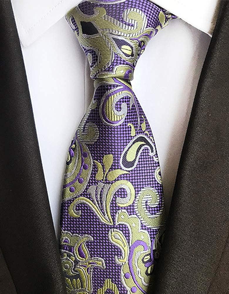 6 Mens Neck Ties Silk Woven Jacquard Tie Classic Neck Ties Pack of 4 9