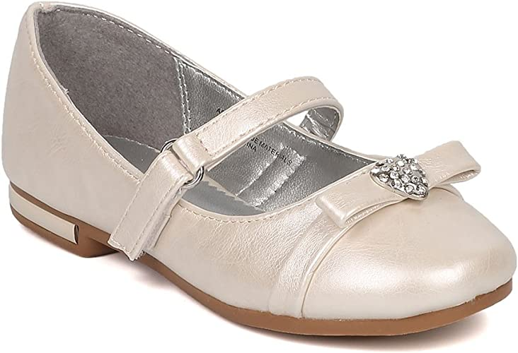 New Kids Girl/'s Ballerina Rhineston Bow Flats Shoes Size 9-4