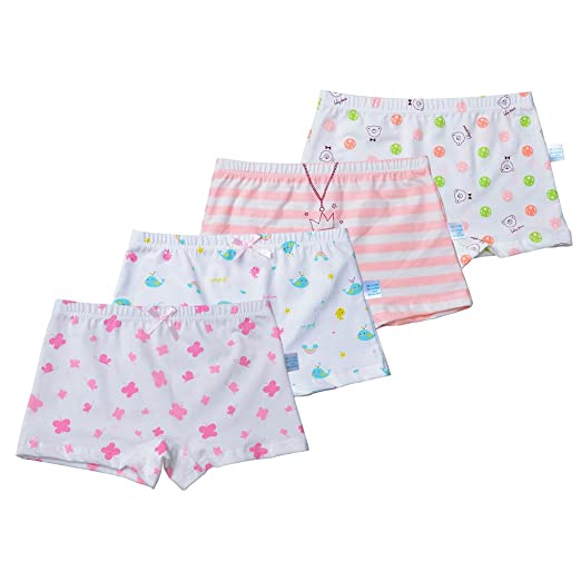 cdebff9c90 Toddler Girls Underwear Cotton Boyshort Hipster Princess Panties Kids  Briefs Stripes Dolphin Balls Butterfly Patterns White