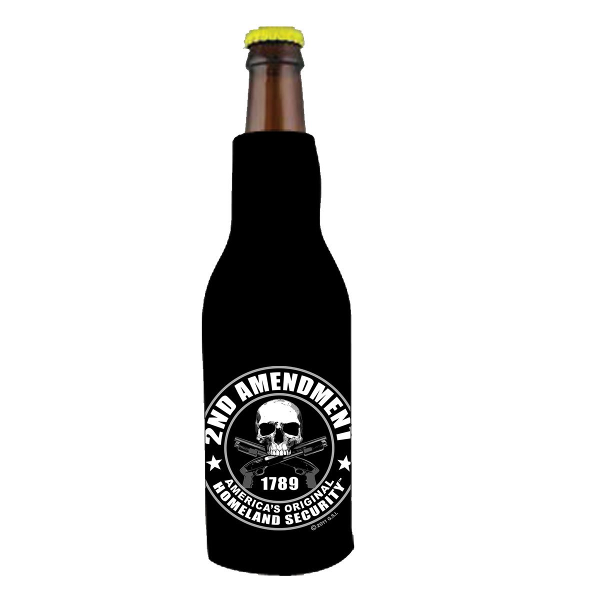 Hot Leathers, Officially Licensed, Drink Bottle Wrap Sleeve (2nd Amendment 1789 America's Original Homeland Security)