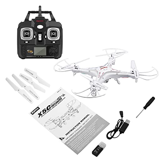 HermosaUKnight Syma X5C 2.4G - Dron cuadricóptero (6 Ejes ...