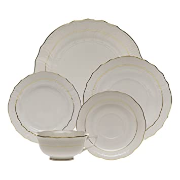 Herend Golden Edge Five Piece Place Setting  sc 1 st  Amazon.com & Amazon.com | Herend Golden Edge Five Piece Place Setting: Dinnerware ...