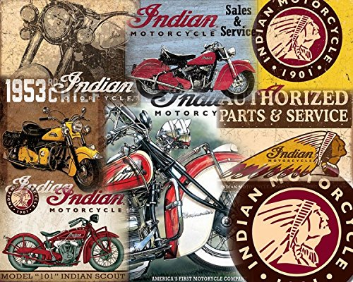 15 DIFFERENT INDIAN MOTORCYCLE SIGN SET $9.95 EA. W/FREE SHIPPING YOU GET ALL - 9.95 Glasses