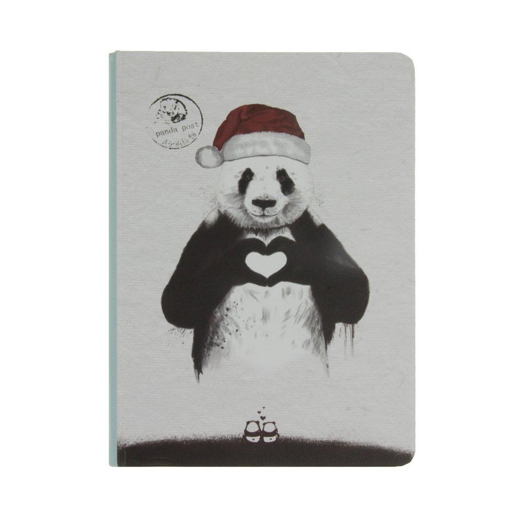 Cute Cartoon Panda Notebook Journals Diary Sketchbook Hard Cover Colorful Pages 112 Sheet for School Office Travel
