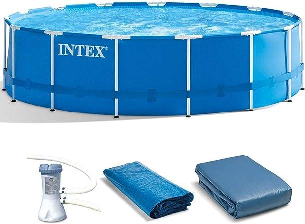Amazon.com: Intex - Set de piscina de metal con marco de ...