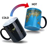 Heat Color Changing Mug Gifts for Mom Morning Coffee Mug Day and Night Magic Heat Sensitive Porcelain Cup Tea Cup Novelty Gifts for Father, Boyfriend, Brother, Friends, 11 Oz