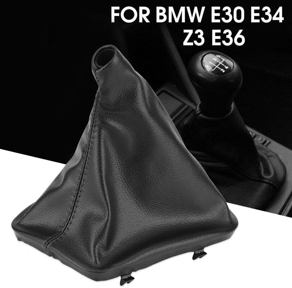 F/ür E30 E34 E36 E46 Z3 Schaltsack Schaltknauf Gamasche Boot Cover mit Kunstleder Linkslenker