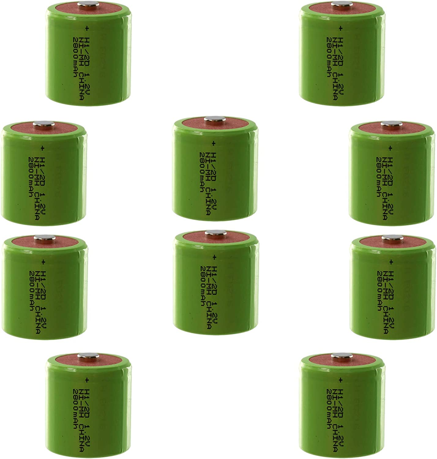10-PACK Exell 1/2D Rechargeable Battery 2900mAh NiMH 1.2V Button Top use with electric mopeds meters two radios electric razors toothbrushes cameras mobile phones pagers USA SHIP 612BlcjfSyhL