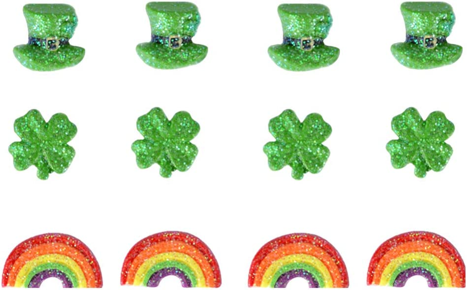 Amosfun St Patricks Day Earring Shamrock Rainbow Clover St Patricks Day Earring Ornament Schmuck Eardrop f/ür Damen Frauen M/ädchen