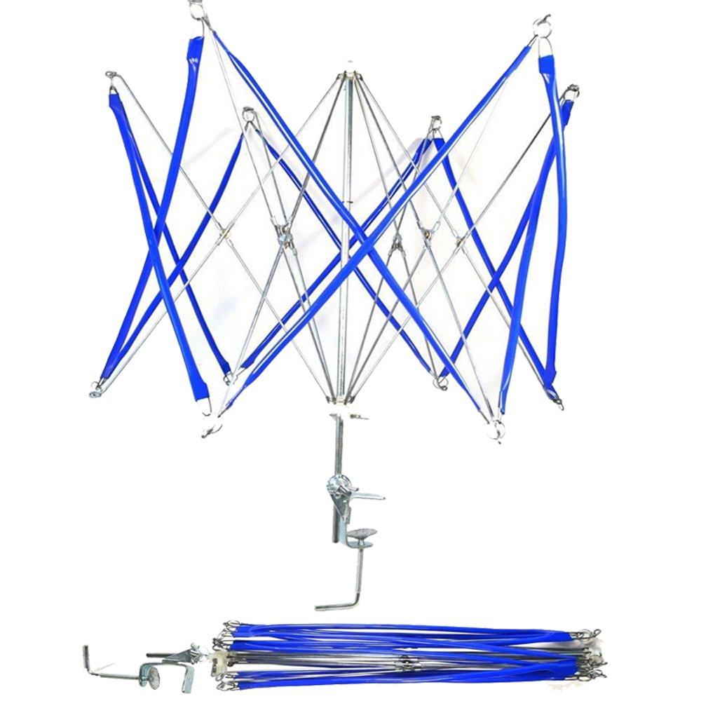 Tebery Umbrella Yarn Swift, Hand Operated Ball Winder Holder, Knitting Tool,Metal Hank Yarn Swift (Blue)