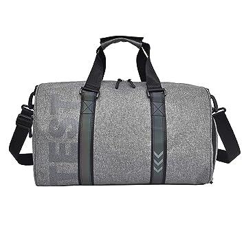 AHDA Pure Color Oxford Bolsos Multifunción De Nylon Business Travel Storage Bag Negro/Gris,Gray: Amazon.es: Deportes y aire libre