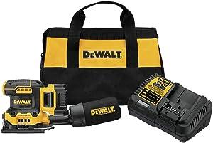 DEWALT 20V MAX XR Palm Sander, Sheet, Variable Speed, 5-Ah Battery, 1/4-Inch (DCW200P1)