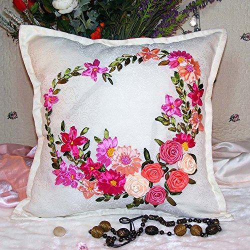 sorliva 45 x 45 cm, diseño de corazón y flores juego de ...