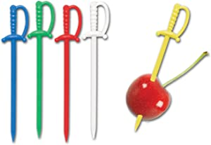 Plastic Sword Picks (asstd colors) Party Accessory(1 count) (50/Pkg)