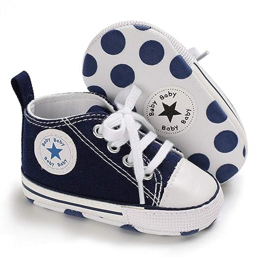 WHITNEY Zapatos de Lona para bebé y niñas y niños, Suela Suave ...
