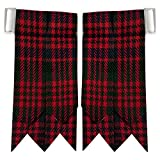 New Solid Plain Black, Royal Stewart Tartan Many More Kilt Flashes Multi Colors (Macdonald)