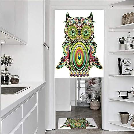 Cortinas de 1 panel con textura de lino con estampado 3D y 1 ...