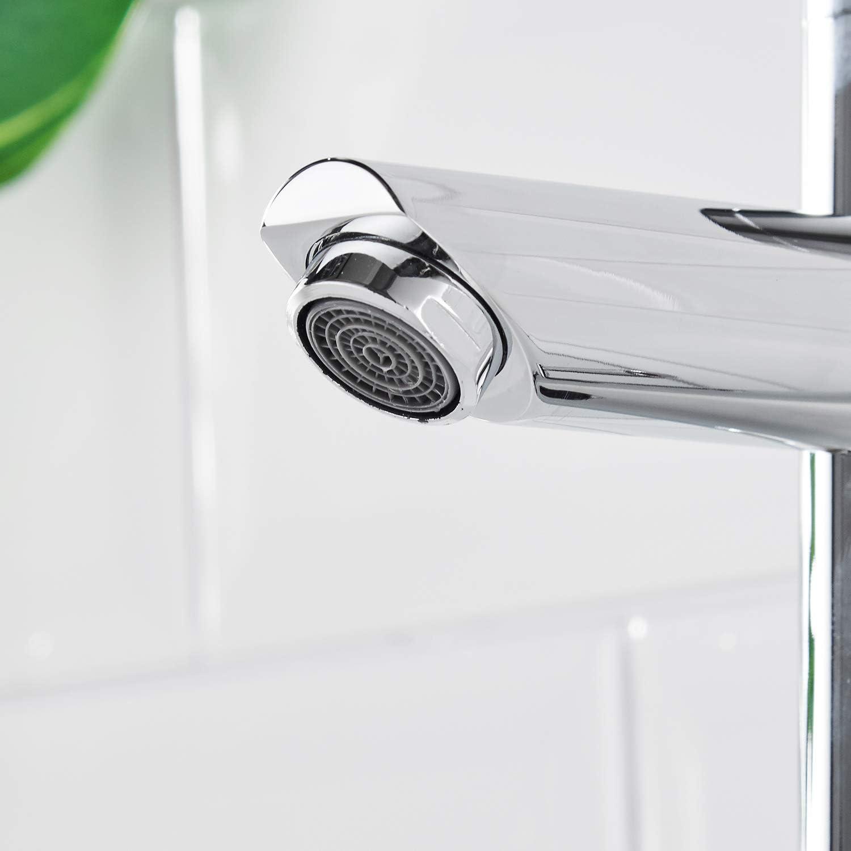 lavabo robinet de lavage AIMADI Robinet de lavabo infrarouge avec capteur automatique /à induction fonctionnement sur batterie Chrom/é robinet de salle de bains