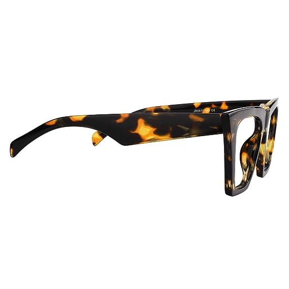 2d501baa8826 Amazon.com: Zeelool Stylish Cat Eye Glasses for Women Cecile FP0662-01  Leopard: Clothing