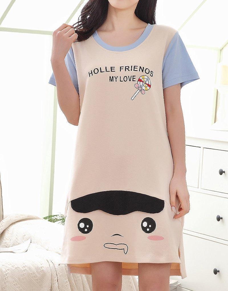 Vopmocld Big Girls Adorable Piggish Panda Nightgowns colorful Candies Sleepwear