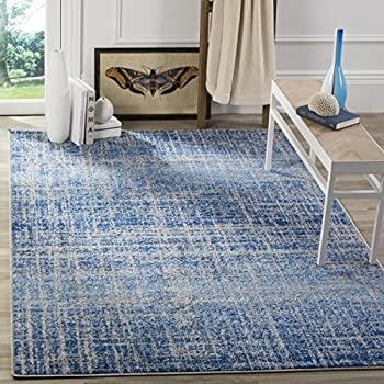 Safavieh Adirondack Collection ADR116D Blue And Silver Modern Abstract Area  Rug (8u0027 X 10